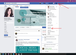 Facebook Business Profile Page