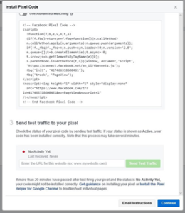 Facebook Pixel html Code